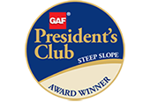 T&G Roofing is a GAF President's Club Master Elite Contractor