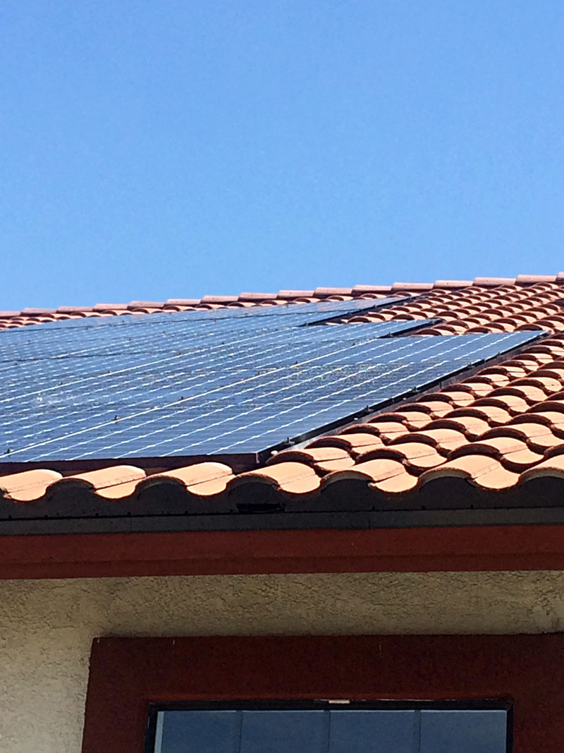 Recessed solar roof project by t g roofing and solar for T g roofing
