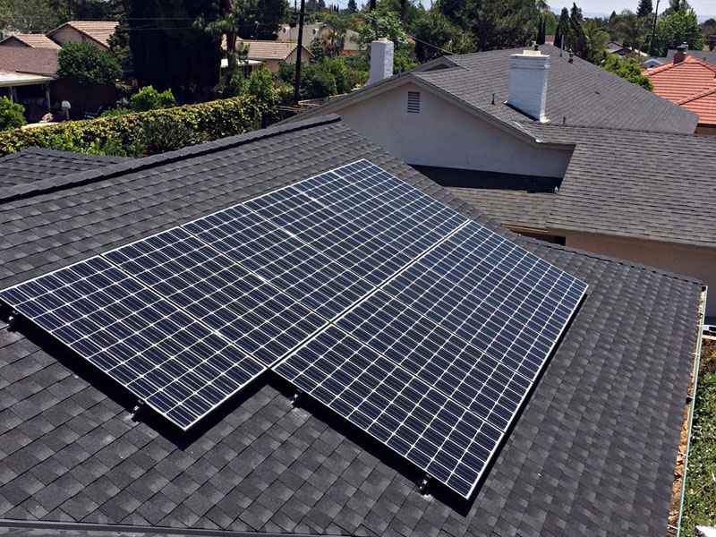 Solar roof installation project