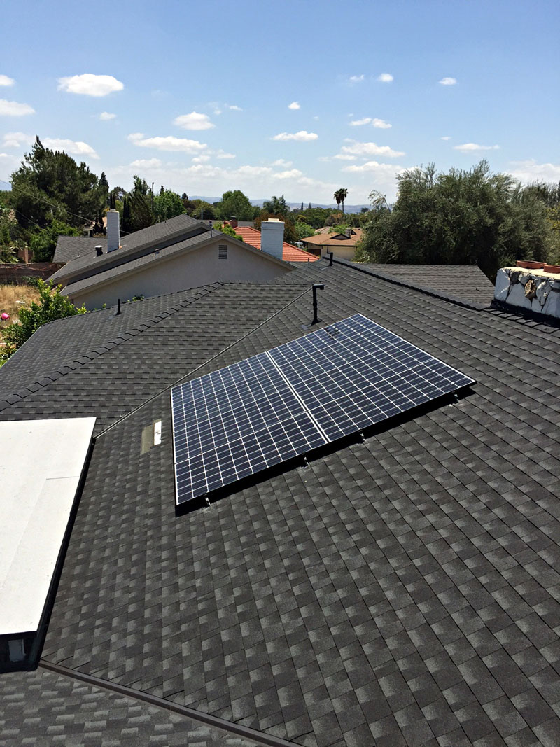Composition Shingle Roof Solar System Project By T Amp G