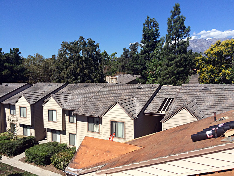 Apartment complex roofing project by t g roofing and for T g roofing